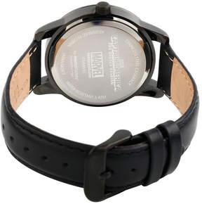 Marvel Classic Mens Black Strap Watch-Wma000063
