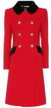 Wool-blend coat in red