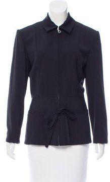 Christian Dior Collared Zip-Up Jacket
