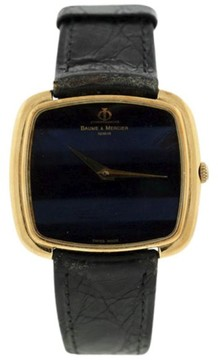 Baume & Mercier Classic 18K Yellow Gold Vintage 33mm Mens Watch