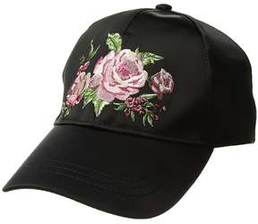 BCBGeneration Roses Satin Baseball Baseball Caps