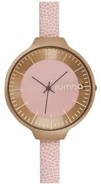 RumbaTime Orchard Rosetone Pink Dial Pink Leather Strap Watch