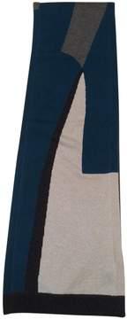 Kenzo Turquoise Wool Scarf
