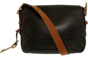 Fossil Women's Small Harper Saddle Crossbody Leather Shoulder Bag Satchel - Black