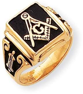 Ice 14k Men's Masonic Enameled Ring