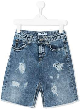 MSGM distressed denim shorts