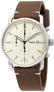 Fossil Commuter Chronograph Cream Dial Men's Watch