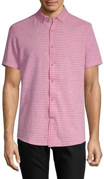 Report Collection Men's Striped Short-Sleeve Button-Down Shirt