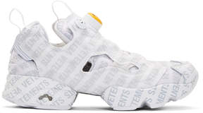 Vetements White Reebok Classics Edition Logo Emoji Instapump Fury Sneakers