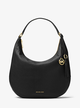 Michael Kors Lydia Leather Shoulder Bag - BLACK - STYLE
