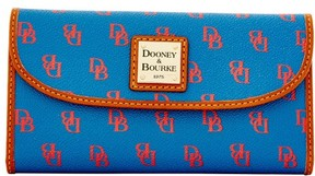 Dooney & Bourke Gretta Continental Clutch Wallet - BLUE RED - STYLE