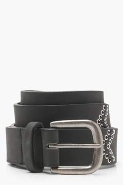 boohoo Eyelet And Stitch Boyfriend Belt