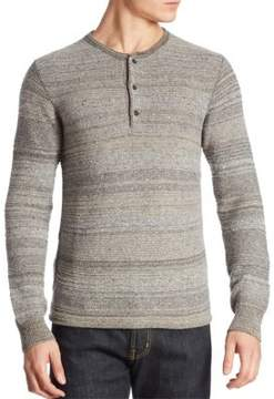 Billy Reid Striped Wool-Blend Henley
