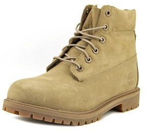 Timberland 6 Inch Prem Youth Round Toe Leather Nude Boot.