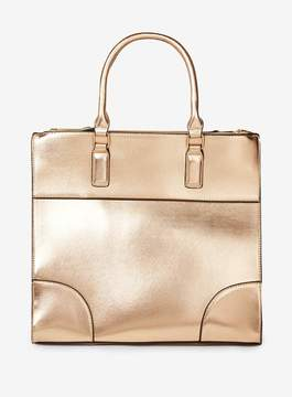 Dorothy Perkins Rose Gold Double Zip Tote bag