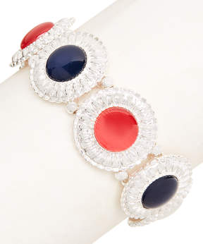 Carole Red & Blue Discs Stretch Bracelet