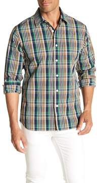 Grayers Harris Plaid Print Regular Fit Woven Shirt