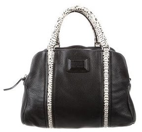 Marc by Marc Jacobs Small Grained Leather Satchel - BLACK - STYLE