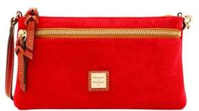 Dooney & Bourke Suede Tech Top Zip Pouch - TOMATO - STYLE