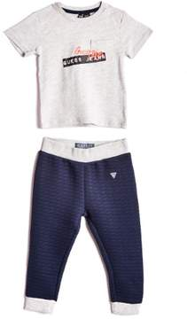 GUESS Boy's Logo Shirt and Pants Set (0-24M)