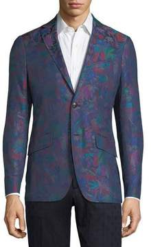 Etro Floral-Print Cotton Sport Coat