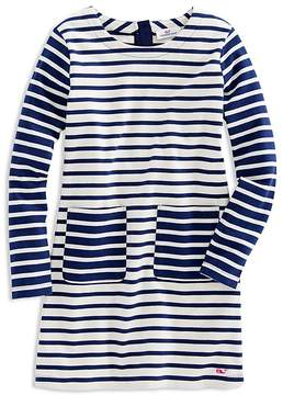 Vineyard Vines Girls' Mixed Stripes Shift Dress - Little Kid
