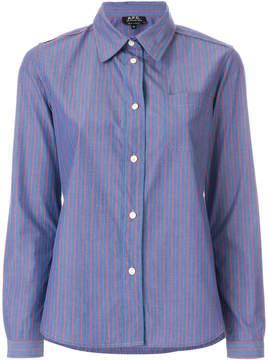 A.P.C. classic striped shirt