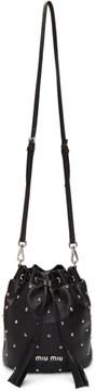 Miu Miu Black Studded Bucket Bag