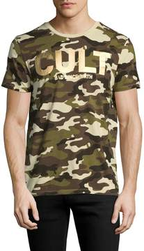 Cult of Individuality Men's Foil Camouflage Cotton Tee