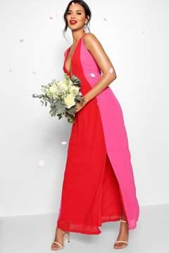 boohoo Colour Block Back Detail Maxi Dress
