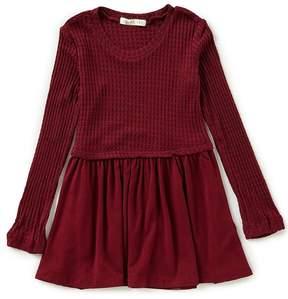 Copper Key Little Girls 2T-6X Waffle Knit Tunic