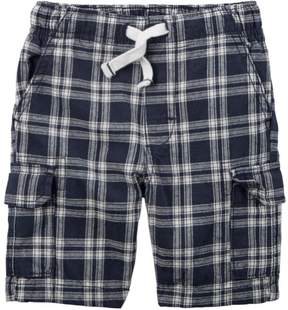 Carter's Baby Clothing Outfit Boys Window Plaid Cargo Shorts Navy Blue/White 6M