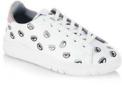 Chiara Ferragni Eye Leather Sneakers