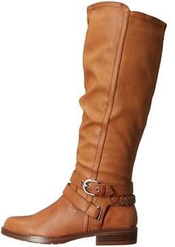 XOXO Womens Martin-wide Calf Closed Toe Knee High Riding Boots.