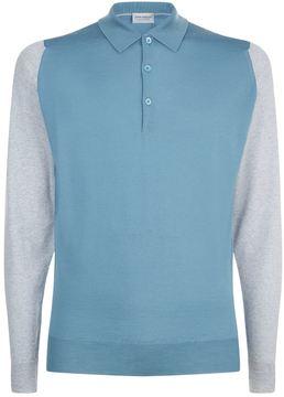 John Smedley Merino Knit Long Sleeve Polo Shirt