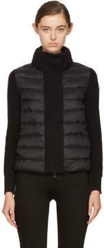 Moncler Black Down Knit Jacket