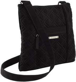 Vera Bradley Quilted Hipster Cross-Body Bag - BLACK - STYLE
