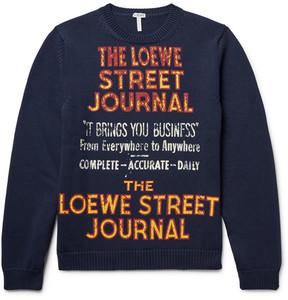Loewe Printed Cotton-Blend Sweater