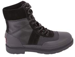 Hunter Men's Black Fabric Ankle Boots.