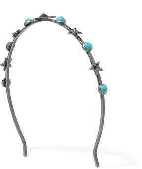 Valentino Silver-tone Turquoise Headband