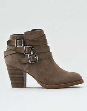 American Eagle Outfitters AE Triple Buckle Heeled Bootie