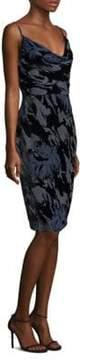 Laundry by Shelli Segal Skinny Strap Velvet Dress