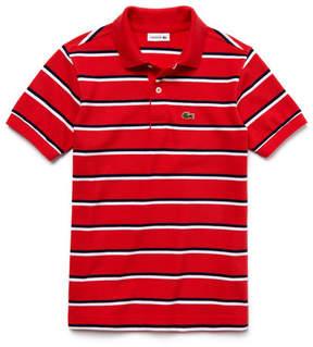 Lacoste Boy's Fine Striped Piqu Polo Shirt