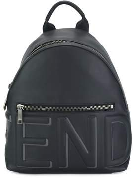 Fendi Men's Blue Leather Backpack.