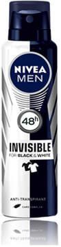 Nivea Invisible Black and White Power Deodorant by 150ml Spray)