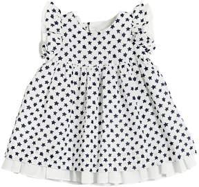 Il Gufo Star Printed Cotton & Linen Blend Dress