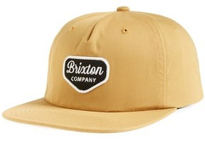 Brixton Men's Navato Snapback Cap - Brown