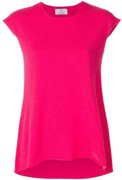 Allude cap-sleeve cashmere jumper