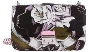 Christian Dior Floral Silk Medium Miss Dior Flap Bag