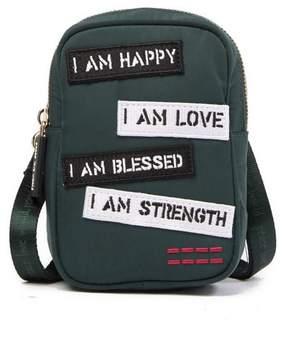 Peace Love World Crossbody Camera Bag